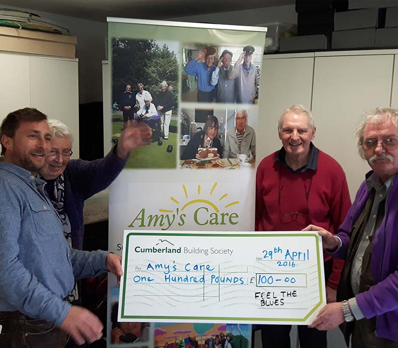 Amys Care receive a big-cheque